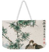 Bamboo And Chicken Weekender Tote Bag