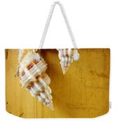 Bamboo And Conches Weekender Tote Bag by Carlos Caetano