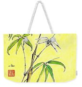 Bamboo And Dragonfly Weekender Tote Bag