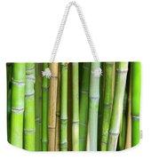 Bamboo Background Weekender Tote Bag by Carlos Caetano