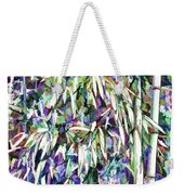 Bamboo Forest Background Weekender Tote Bag