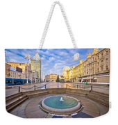 Ban Jelacic Square In Zagreb Advent View Weekender Tote Bag