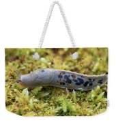 Banana Slug Closeup In Moss Weekender Tote Bag