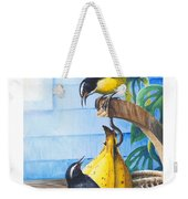 Bananaquits And Bananas Weekender Tote Bag
