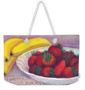 Bananas And Strawberries Weekender Tote Bag