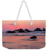Bandon Beach Sunset Silhouette Weekender Tote Bag