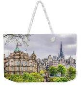 Bank Of Scotland And Skyline Edinburgh Weekender Tote Bag