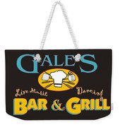 Bar And Grill Sign Weekender Tote Bag