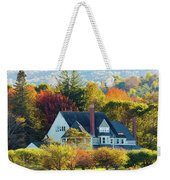 Bar Harbor Autumn House Weekender Tote Bag