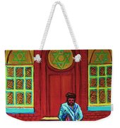 Bar Mitzvah Lesson At The Synagogue Weekender Tote Bag