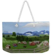 Bar U Ranch Weekender Tote Bag by Linda Feinberg