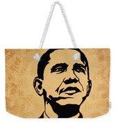 Barack Obama Original Coffee Painting Weekender Tote Bag
