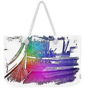 Barbara Cool Rainbow 3 Dimensional Weekender Tote Bag