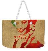 Barbara Stanwyck Watercolor Portrait Weekender Tote Bag