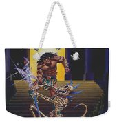 Barbarian And Skeleton Wizard Weekender Tote Bag