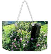 Barbed Wire And Roses Weekender Tote Bag
