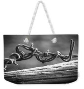 Barbed Wire Weekender Tote Bag