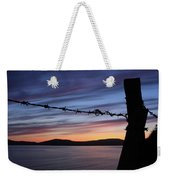 Barbed Wire Sunset Weekender Tote Bag