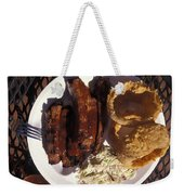 Barbeque Ribs Dinner At Sonny Bryans Weekender Tote Bag