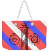 Barber Pole Patent Weekender Tote Bag