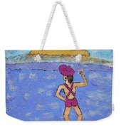 Barb's Beach Waving Weekender Tote Bag