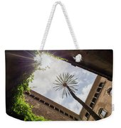 Barcelona Courtyard With Palm Tree Weekender Tote Bag