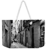 Barcelona Small Streets Bw Weekender Tote Bag