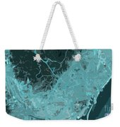 Barcelona Traffic Abstract Blue Map Weekender Tote Bag