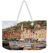 barche a Portofino Weekender Tote Bag