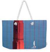 Barcode Of The Bay Scanned With Sails On A Beautiful Day Weekender Tote Bag
