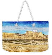 Bardenas Desert Panorama 3 - Vintage Version Weekender Tote Bag
