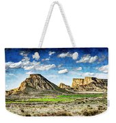 Bardenas Desert Panorama 4 - Vintage Version Weekender Tote Bag