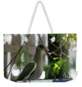 Bare Eyed Pigeon Weekender Tote Bag