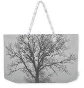 Bare Tree In Fog Weekender Tote Bag