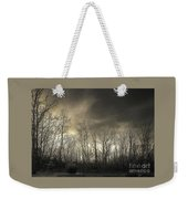 Bare Trees In A Winter Sunset Weekender Tote Bag