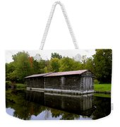 Barge House On The Erie Canal Weekender Tote Bag