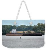 Barge On Tennessee River At Shiloh National Military Park Weekender Tote Bag