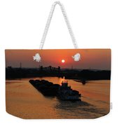 Barge On The Ohio. Weekender Tote Bag