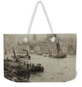 Barges On The South Bank Weekender Tote Bag