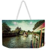 10946 Cruising On The Grand Union Canal Weekender Tote Bag
