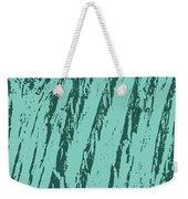 Bark Texture Turquoise Weekender Tote Bag