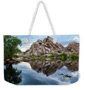 Barker Dam Reflection Weekender Tote Bag