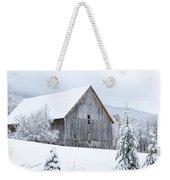 Barn After Snow Weekender Tote Bag