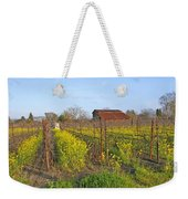 Barn Among The Wild Mustard Weekender Tote Bag