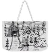 Barn And Sheep Weekender Tote Bag
