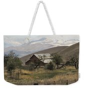 Barn And Snow Weekender Tote Bag