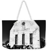 Barn And Tractor In Black And White Weekender Tote Bag