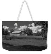 Barn At Yonah Mountain In Black And White 4 Weekender Tote Bag