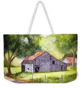 Barn By The Road Weekender Tote Bag