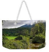 Barn By The Stream In Vermont Weekender Tote Bag